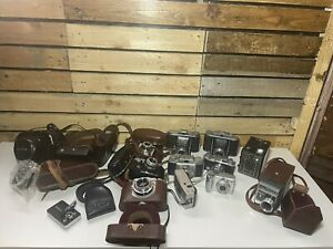 Vintage Camera Bundle Job lot |Collection of Camera's,Cases & Accc |