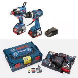 Bosch GDX18V-EC + GSB18V-EC Cordless 18V Drive Impact Drill Set / 220V Charger