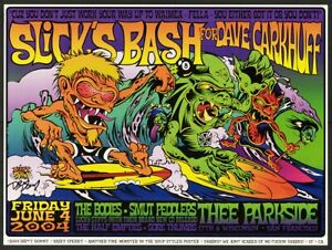 Dirty Donny Slicks Bash 2004 Surf Monsters Concert Poster w Chuck Sperry Text
