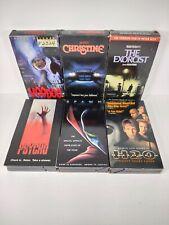 VHS Horror Movie Lot of 6 Christine, Exorcist, Voodoo, Halloween H20, Psycho 98