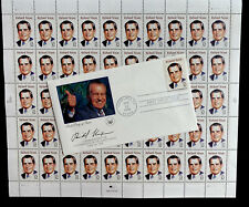 RICHARD NIXON 1995 sheet of 50 - 32 Cent Mint Stamps And First Day Cover