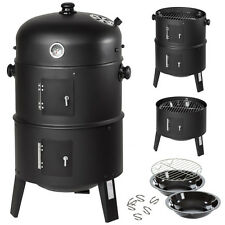 3in1 BBQ Grill a legna e carbone Barbecue Smoker Carbonella Griglia