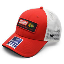 Chicago Blackhawks NHL Iconic Trucker Mesh Snapback Adjustable Hat - Red/Black