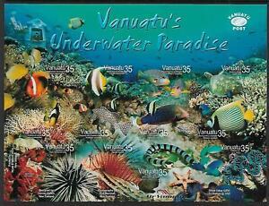 2004 Vanuatu's Underwater Paradise Self Adhesive Sheetlet MUH/MNH
