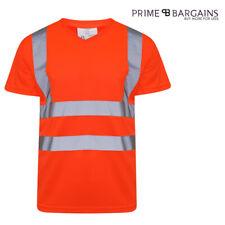 High Vis Vest Polo Shirt Hi Viz T-Shirt Top Short Sleeve Safety Security Work