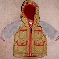 BABY BOY NEXT QUILTED FLEECED WARM 3-6 MNTHS JACKET VGC