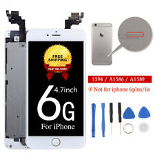 White For iPhone 6 Touch LCD Digitizer Complete Screen Replacement + Home Button
