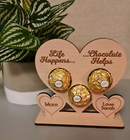 Personalised Mother's Day Gift Ferrero Rocher Holder Heart Mum Nan Gifts for Her
