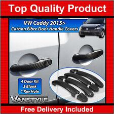 VW CADDY & MAXI MK4 REAL CARBON FIBRE 4 DOOR HANDLE COVER TRIM SET NOT CHROME