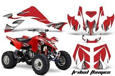 Suzuki LTZ 400 AMR Racing Graphic Kit Wrap Quad Decals ATV 2009-2012 TRIBAL WHT