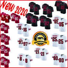 Men's San Francisco 49ers stitched Jersey Scarlet 100th Season Multi Player & №