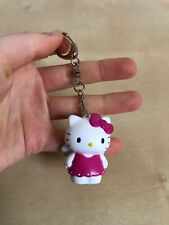 Hello kitty White & Pink Key Ring Unused With Small Storage Mark Very Cute