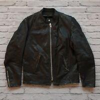 Vintage Vanson Leather Cafe Racer Motorcycle Jacket Size M S Biker