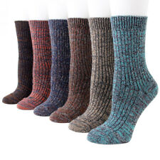 5 Pack Womens Merino Wool Comfortable Warm Soft Thick Casual Dress Solid Socks