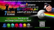 Night Sports Spectrum 12 Pack Light Activated 7 Color LED Golf Balls