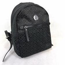 Tommy Hilfiger TH Logo Designer Faux Leather Canvas Back Pack Bag Purse NWT $88