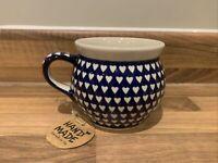 Mug 0.42L Handmade Polish pottery Boleslawiec