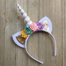 Magical Unicorn Horn Headband Party Kids Hair Headband Fancy Girl Cosplay -White