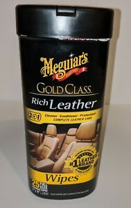 Lot of 3 Meguiar's Gold Class Leather Cleaner & Conditioner 25 wipes G10900