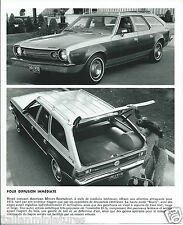 AMC Hornet Sportabout Estate Gucci 1973 Original Press Photograph