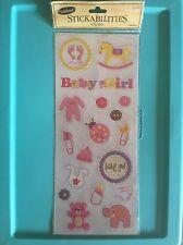 NEW Stickabilities Glitter It's A Girl Baby Nursery Toys Scrapbook Stickers