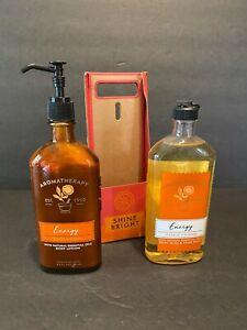 Bath & Body Works Aromatherapy Energy Orange + Ginger Lotion Body Wash 6.5 oz