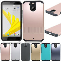 Dual Layer Slim Hybrid Armor Rubber Case Shockproof Cover For HTC Bolt 10 Evo