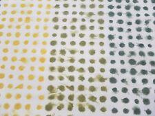 Designers Guild Curtain Fabric AMLAPURA 3.25m Moss - Polka Dot Cotton 325cm