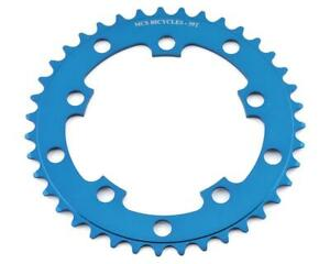 MCS 104 5-BOLT CHAINRING GEAR BMX 43T - BLUE - MADE IN THE USA
