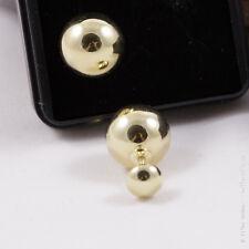 Sehr schöne, runde Ohrringe aus 333 Gelbgold - Goldschmuck - Ohrstecker - Kugel