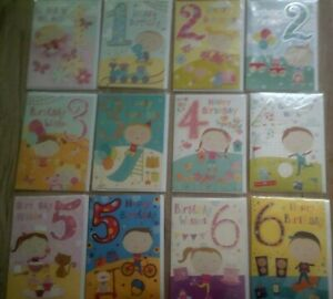 HAPPY BIRTHDAY CARD FOR AGES 1*2*3*4*5*6*GIRL*BOY*CHOOSE DESIGN*GREETING*CHILD