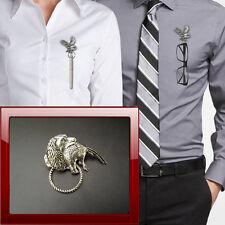 Spaniel & Pheasant A26 Pewter Pin Brooch Drop Hoop Holder Glasses,Pen,Jewellery