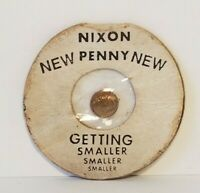 "Vintage ""Nixon Penny"" Small Tiny Collectible Getting Smaller Novelty"