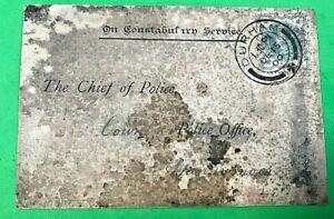 1900 - VINTAGE POLICE CORRESPONDENCE - DURHAM CONSTABULARY