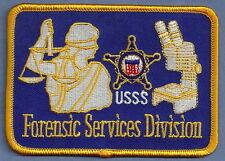 U.S. SECRET SERVICE FORENSICS DIVISION PATCH