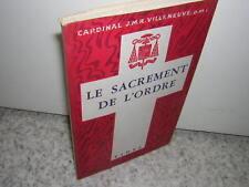 1945.sacrement de l'ordre / cardinal Villeneuve.bon ex.non coupé
