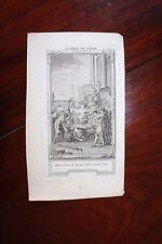 ✒ ca.1770 gravure VOLTAIRE La mort de César