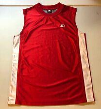 Vintage Boys Starter Red Sleeveless Tank Top Shirt Size 14/16 100% Polyester
