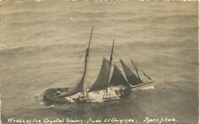 More details for bude. crystal spring shipwreck 1904 by thorn. side view.