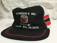 Vintage 3 Stripes Phillips 66 Philgas Made in USA Snapback Trucker Farm HAT