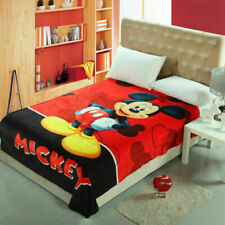 Fashion Throws Flannel Blanket Mickey Mouse Soft Silky Bedding Rug 150*200Cm