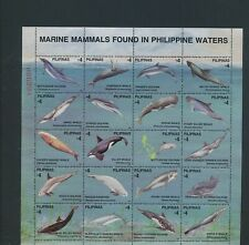 XC95140 Philippines whales dolphin fish sealife XXL sheet MNH