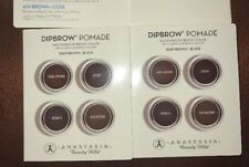 2X Anastasia Beverly Hills Dipbrow Pomade Sample Card W/Brush Deep Brown - Black