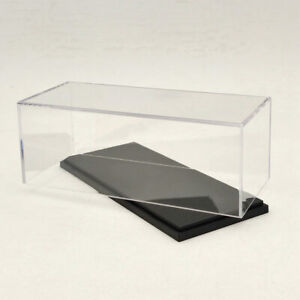 Model Car Acrylic Case Display Box Cover Transparent Dust Proof 16cm 1:43 1:64