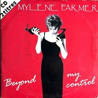 CD SINGLE 2 TITRES MYLENE FARMER BEYOND MY CONTROL CARDBOARD SLEEVE TRES RARE 92