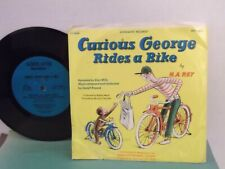 """""""Curious George Rides A Bike"""",US,7"""" 33 with P/S, 1970 classic childrens issue!!"""