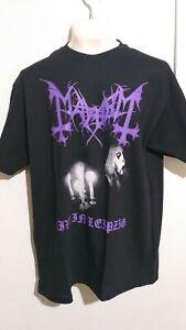 Mayhem live leipzig T shirt black metal darkthrone emperor 1burzum dead