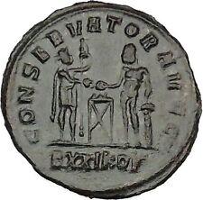 Maximian with Hercules  sacrificing 292AD Ancient Roman Coin  i40650
