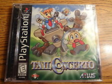 Tail Concerto ULTRA RARE! NEW & SEALED! Cracked Case! (Sony PlayStation 1, 1999)