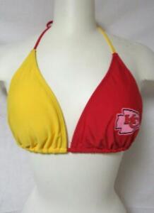 Kansas City Chiefs Womens Size X-Large String Bikini Swimsuit Top C1 652